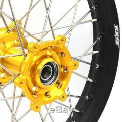 Kke 21/18 Enduro Wheels Rims Set For Suzuki Drz400 Drz400e Drz400s Drz400sm Gold