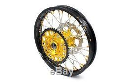 Kke 21/18 Enduro Wheels Rims Set For Suzuki Drz400sm 2005-2018 Front 310mm Disc