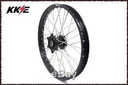 Kke 21/18 Enduro Wheels Set For Suzuki Drz400 Drz400e Drz400s Drz400sm Black Hub