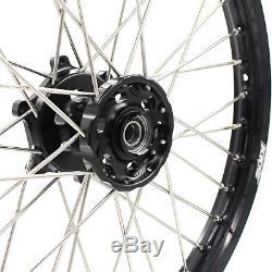 Kke 21/19 MX Wheels Rims Set Fit Suzuki Drz400 Drz400s Drz400e Drz400sm Blackhub