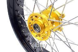 Kke 3.5/4.2517 Supermoto Wheels Rims Set Fit Suzuki Drz400 Drz400e/s Drz400sm