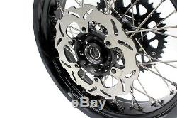 Kke 3.5/4.25 Complete Supermoto Wheels Set For Suzuki Drz400sm 2005-2018 Disc