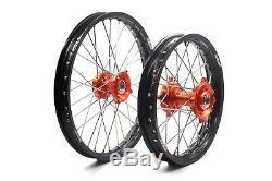 Kke Wheels 1.417 & 1.614 For Ktm85 Sx Small Wheels Rims Set Orange 2003-2018