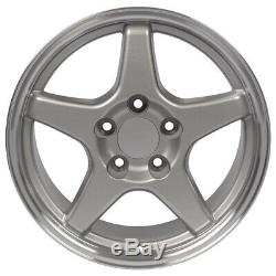 NPP Fit 17 Silver C4 ZR1 Wheels SET Wheels Corvette SS Camaro Firebird TA