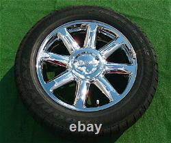 New GMC Yukon DENALI Wheels Used Tires Set 4 OEM Factory style Chrome 20 in 5304