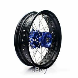 New Supermoto Wheels Set For Suzuki DR650 DR 650 L 17 Cush Drive 1996/2016