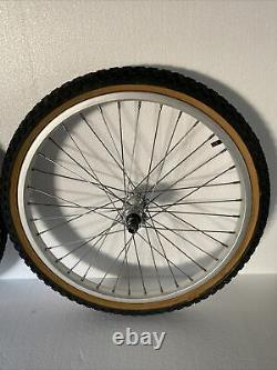 Old school GT Bmx 48h Small flange 3rd gen. Wheelset
