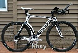 RIDLEY DEAN Carbon Tri Triathlon Pro Bike CycleOps Wheelset, Small 52cm TT aero