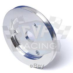 SBC Small Block Chevy V-Belt Pulley Set 350 SWP Short Water Pump Alternator 1V
