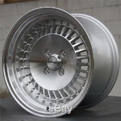 SET(4) 15x8 4x100 Performa Wheels ACURA CIVIC CRX MIATA INTEGRA BMW RE30 NEW