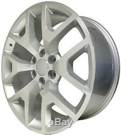 SET(4) NEW 22 2014 GMC Sierra Wheels Silver Machined OE Silverado Denali
