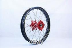 SM PRO WHEEL SET 21+18 RED/BLACK BETA RR 4T & 2T 2013 onward