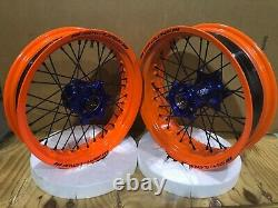SM Pro KTM/Husqvarna SuperMoto Tubeless Wheel set 3.50 x 16.5 & 5.00 x 17