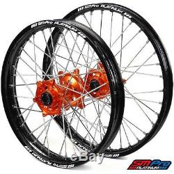 SM Pro Platinum Motocross Wheel Set KTM Orange Silver KTM 125 UP 03-12