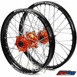 SM Pro Platinum Motocross Wheel Set KTM Orange Silver KTM 125 UP 13-14