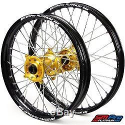 SM Pro Platinum Motocross Wheel Set- Kawasaki Gold Silver-KXF 250/450 06-Current
