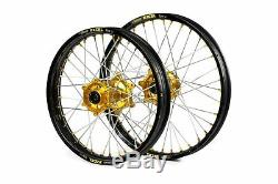 SM Pro Platinum Motocross Wheels Suzuki RM85 2005-2020 Small Wheel