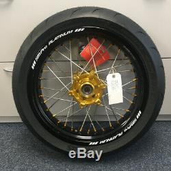 SM Pro Wheel Set Suzuki DRZ 17 x 4.25 17 x 3.50 Mitas Tyres (Tubed)