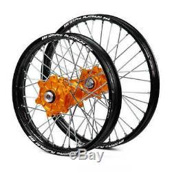 SM Pro Wheels Set Back Rims Orange Hubs KTM SX 125 150 250 2019 2020