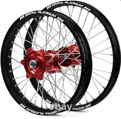 SM Pro Wheels Set Back Rims Red Hubs 18 Rear GAS GAS Motocrosss Models 2021