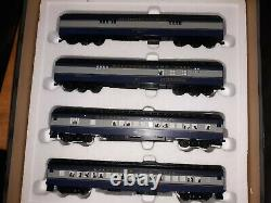 S SCALE B&O Heavyweight Passenger Set with Pacific steam engine. SCALE WHEELS