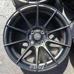 Set 4 16x8 Advanti Racing Storm S1 Black 4x100 Wheels +35mm Rims