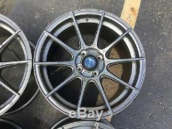 Set 4 16x9 Advanti Storm S1 Gunmetal 4x100 Wheels +45mm Rims