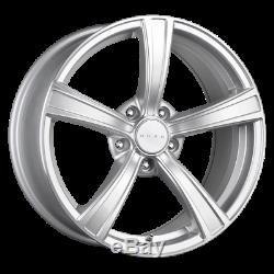 Set (4) 17x8 +40 5x114.3 5x4.5 Drag Dr-72 Silver Wheels/rims 17 Inch 48308
