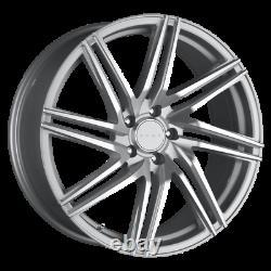 Set (4) 18x8 +40 5x114.3 5x4.5 Drag Dr 70 Silver Wheels/rims 18inch 47775