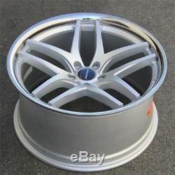 Set(4) 20x8.5/10 5x120 lnovit Silver Wheels BMW 528I 535I 550I F13 645 650 740