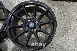 Set of 16x9 Advanti Racing Storm S1 Black 4x100 +45mm Wheels