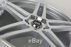 (Set of 4) 17x7.5 +38 Enkei RSF5 5x105 Silver Machined Wheels