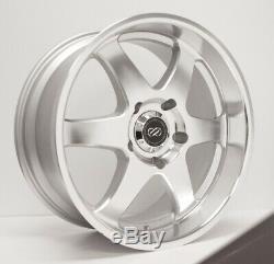 (Set of 4) 20x9.5 +10 Enkei ST6 6x139.7 Silver Machined Wheels