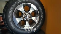 Set of 4 wheels & tires for 2017 Jeep Wrangler Unlimited Sahara 10/32 P255/70R18