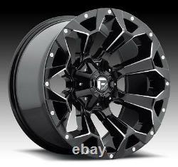 Set of 5 20 Fuel D576 Assault Wheels 285/55R20 Tires Package Jeep Wrangler JL
