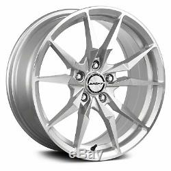 Shift Blade Wheels 17x7.5 (35, 5x120.65, 72.6) Silver Rims Set of 4