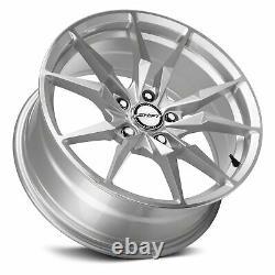 Shift Blade Wheels 18x8 (35, 5x120.65, 72.6) Silver Rims Set of 4