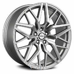 Shift Spring Wheels 20x8.5 (32, 5x120.65, 73.1) Silver Rims Set of 4