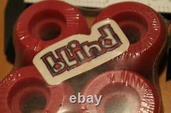 Skateboard Wheels Small 1990's Red Original Rare 44mm Set Of 4 SKATEBOARD WHEELS