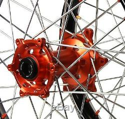 Sm Pro Platinum Motocross MX Wheel Set Ktm All Sx Sxf 03-12 Front 21 Rear 19