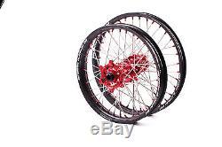 Sm Pro Platinum Motocross Wheel Set Honda Cr Crf Crfx Front 21x1.60 Rear 19x1.85