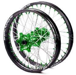 Sm Pro Platinum Motocross Wheel Set Kawasaki Kx Kxf Front 21x1.60 Rear 19x1.85