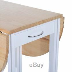 Small Kitchen Dining Table And Chairs Set Folding Island 2 Stools Trolley Wheels