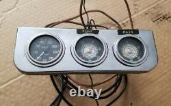 Stewart Warner 2 1/16 gauge kit Water Temp Oil Pressure blue line vintage yenko