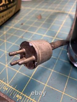 Stewart Warner Tachometer Tach 4500 Flathead SCTA Curved Glass Hot Rat Rod 6V