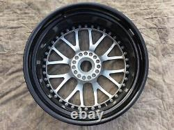 Strasse Sm8 Porsche 997 19 Center Lock Wheel Set In Brush Aluminum Chrome Lip