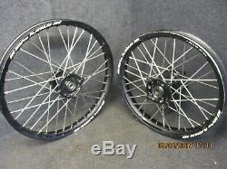 Suzuki RMZ250 RMZ450 2008-2018 Used SM PRO 19 + 21 Black wheel set RM3334