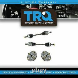 TRQ Front CV Axle Shafts & Wheel Hub Bearing Assemblies Set of 4 for Acura Honda