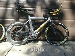 Triathlon bike 650c, 2 wheel sets used good condition, Dura ace