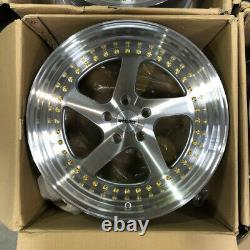 Used 18x10.5 whistler SK5 5x114.3 22 Silver Machine Wheels set(4)